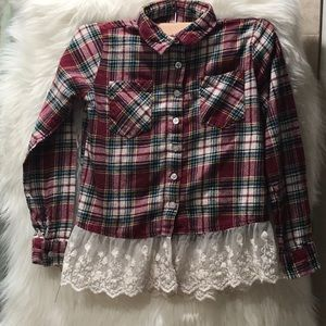 SayWhat? girls flannel blouse L(14)